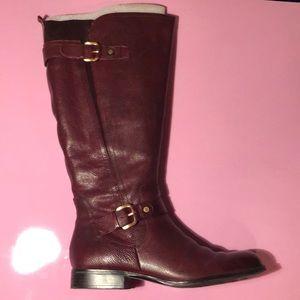Naturalizer Wine Color Jean Wide Calf Boot